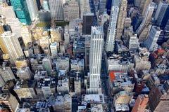 Regardez vers le bas dans le Midtown Photo stock