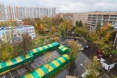 Regardez vers le bas dans le secteur Bogorodskoe de cour Image stock