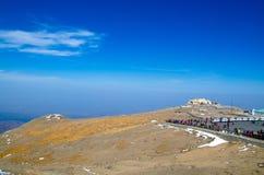Regardez vers le bas du sommet de la montagne de changbai Photos libres de droits