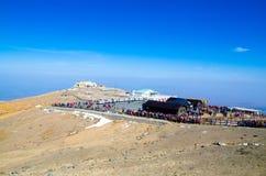 Regardez vers le bas du sommet de la montagne de changbai Photo stock