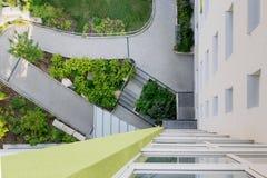 Regardez vers le bas sur une entrée de maison Images libres de droits