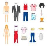 Regards de restauration/changement d'habillement illustration libre de droits