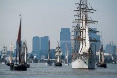 Regata alta de la nave de Greenwich Imágenes de archivo libres de regalías