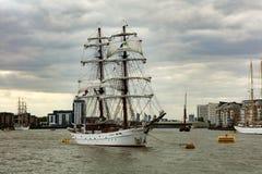 Regata alta de las naves de la cita Greenwich 2017 el río Támesis Fotografía de archivo