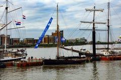Regata alta de las naves de la cita Greenwich 2017 el río Támesis Foto de archivo