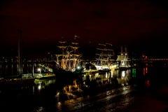 Regata alta de las naves de la cita Greenwich 2017 el río Támesis Foto de archivo libre de regalías