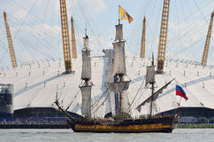 Regata alta delle navi di Greenwhich Fotografie Stock