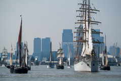 Regata alta do navio de Greenwich Imagens de Stock Royalty Free
