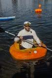 5a regata anual 2015 da abóbora de Ginormous Foto de Stock Royalty Free
