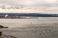 Regata de Barcolana de Trieste fotos de stock