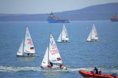 Regata de Junior European Championship Sailing Foto de archivo