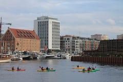 Regata del kajak en Gdansk Polonia fotos de archivo