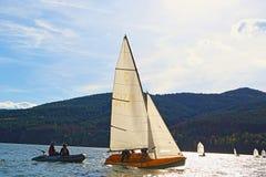 Regata dos barcos de navigação Fotografia de Stock Royalty Free