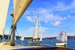 Regata dos veleiros Fotografia de Stock Royalty Free