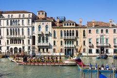 Regata Storica历史赛船会 在威尼斯意大利 免版税库存照片
