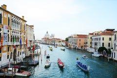 Regata Storica,威尼斯,意大利 免版税库存图片