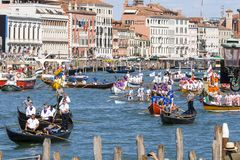 Regata Storica historical regatta.  In Venice Italy. Regata Storica historical regatta. In Venice Italy, Europe Royalty Free Stock Images