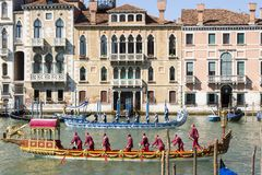Regata Storica historical regatta.  In Venice Italy. Regata Storica historical regatta. In Venice Italy, Europe Stock Photos