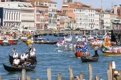 Regata Storica historisk regatta I Venedig Italien Royaltyfria Bilder