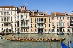 Regata Storica historisk regatta I Venedig Italien Royaltyfri Foto