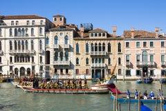 Regata Storica historisk regatta I Venedig Italien Royaltyfria Foton