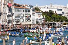 Regata Storica historisk regatta I Venedig Italien Royaltyfri Fotografi