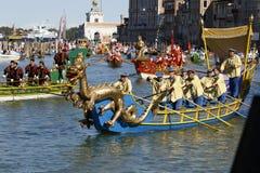 Regata Storica, Venetië Stock Afbeeldingen