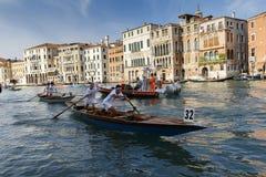 Regata Storica, Venice. Venice, Italy - September 4, 2016: Historical ships open the Regata Storica, the main event in the annual Voga alla Veneta rowing Stock Photography