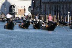 Regata Storica, Venice. Venice, Italy - September 6, 2015: Historical ships open the Regatta Storica, the main event in the annual Voga alla Veneta rowing Stock Photo