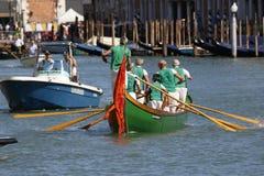 Regata Storica, Venice. Venice, Italy - September 6, 2015: Historical ships open the Regatta Storica, the main event in the annual Voga alla Veneta rowing Stock Images