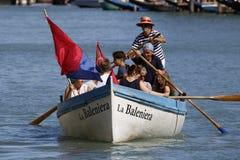 Regata Storica, Venice. Venice, Italy - September 6, 2015: Historical ships open the Regatta Storica, the main event in the annual Voga alla Veneta rowing Stock Photography