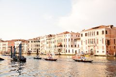 Regata storica in Venice. Regata storica and sailing ships and boats in Venice, Italy, Europe Stock Image