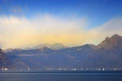 Regata sul lago Fotografie Stock
