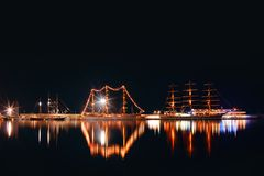 Regata Tall ship in the Varna`s Harbor ,Bulgaria. Sea port Varna. Regata Tall ship in the Varna`s Harbor ,Bulgaria. Sea port Varna Stock Photos