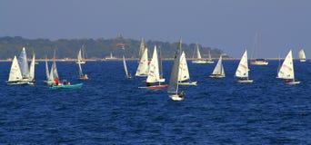 Regata Varna Bulgaria de los barcos de navegación Imagen de archivo