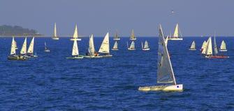 Regata Varna Bulgaria de los barcos de navegación Fotografía de archivo