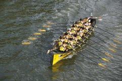 Regatas del rowing en Bilbao Imagenes de archivo