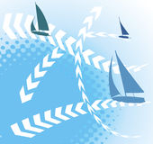 Regatta Royaltyfri Illustrationer