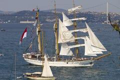 Regatta alto 2010 de las naves - Dewaruci Foto de archivo libre de regalías