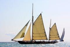Regatta antiguo de los veleros Foto de archivo