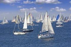 Regatta Barcolana in de Golf van Triëst royalty-vrije stock foto's