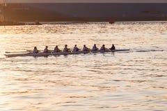 Regatta Canoe Rowing Eights Crew  Stock Photo