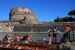 Regatta con tiber river Stock Photo