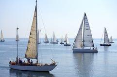 Regatta Cor Caroli keelboats Zdjęcie Royalty Free