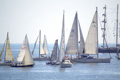 Regatta Cor Caroli keelboats Royalty Free Stock Images