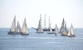 Regatta Cor Caroli sailing yachts Stock Photography