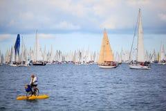 Regatta de Barcolana em Trieste foto de stock royalty free