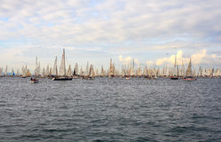 Regatta de Barcolana, Trieste Photos stock