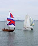 Regatta de bateaux de navigation Images stock