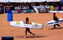 Regatta de Henley-Em-Todd, raça do caiaque Fotografia de Stock Royalty Free